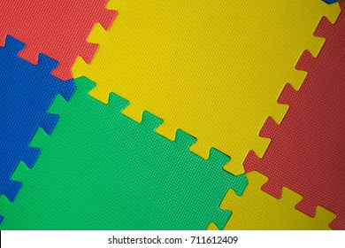 Puzzled play mat for children