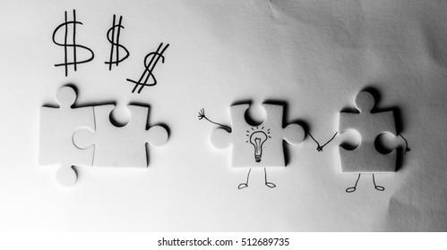 puzzles, business concept