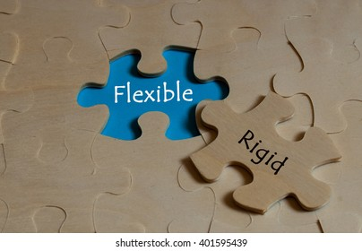 puzzles with word flexible and rigid