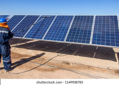 PV Modules Cleaning, Solar Energy, a clean technology to reduce CO2 emissions, the best place for Solar Energy is the Atacama Desert at north Chile where all the astronomical observatories are placed