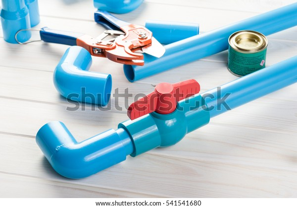 Pvc Pipe Connections Pvc Pipe Fitting Stock Photo (Edit Now