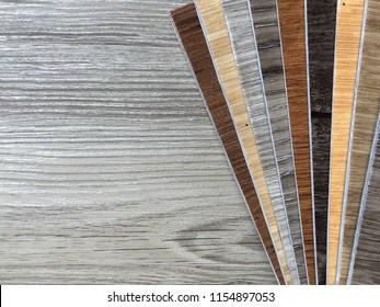 PVC polymer Vinyl wood pattern Sample for interior flooring design on copy space