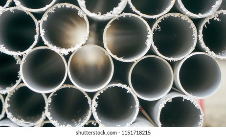 The PVC of polyvinyl pipe. the hole of PVC pipe.