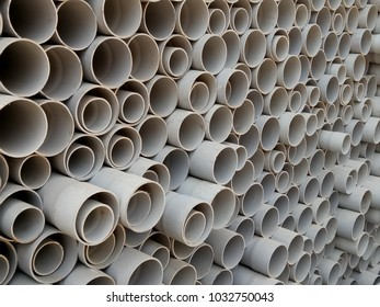 PVC Sewerage Pipes Stock pile at construction site