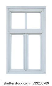 Pvc window on white background