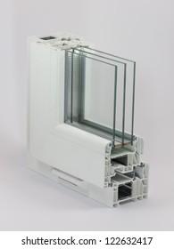 PVC window sample