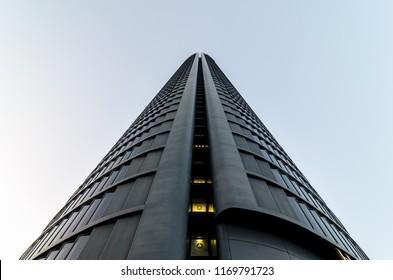 pwc tower, Madrid CTBA. Price Waterhouse Consulting headquarters. September 2018