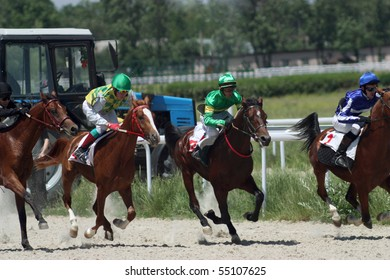 """PYATIGORSK, RUSSIA  - JUNE 13: The race for the prize of the """"Russia Day""""; June 13; 2010 in Pyatigorsk; Caucasus; Russia."""