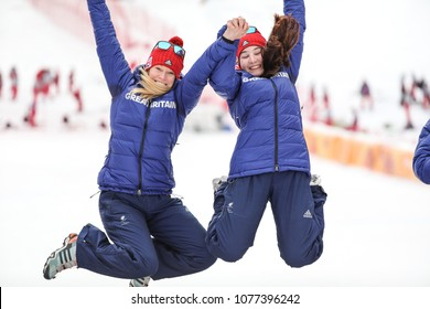 PyeongChang 2018 March 18th . Women's Slalom  Golden medal - FITZPATRICK Menna , Guide: KEHOE Jennifer