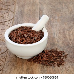 Pygeum bark herb used in alternative herbal medicine to stimulate sexual desire, to treat enlarged benign prostrate, to heal kidney disease, reduces inflammation and has many other health benefits.