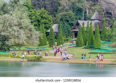 PYIN OO LWIN, MYANMAR - NOVEMBER 29, 2016: People visit National Kandawgyi Botanical gardens in Pyin Oo Lwin, Myanmar