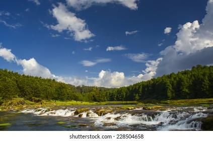 Pykara falls where Pykara river starts in Ooty, Tamilnadu, India