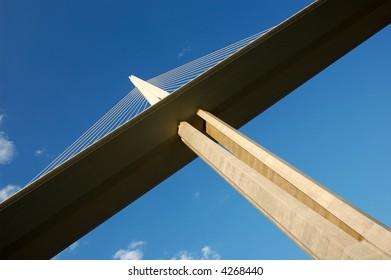 Pylon of the Millau Viaduct in France