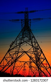 Pylon, in the sunset