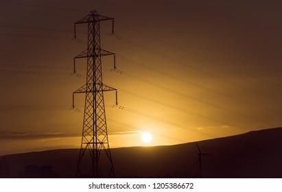 pylon sunset landscape