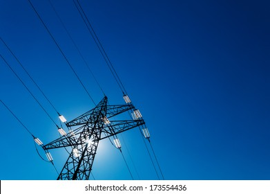 pylon, symbolic photo for energy production, supply and electricity network
