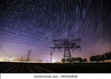 Pylon and trajectory of the stars