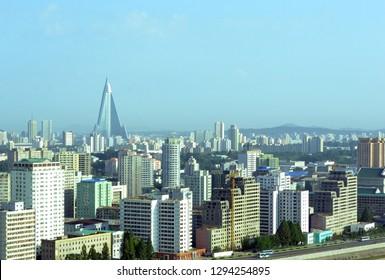 The Pyongyang City Skyline Landscape