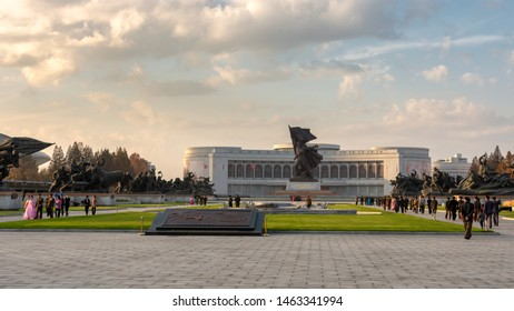 Pyongyang / DPR Korea - November 12, 2015: Victorious Fatherland Liberation War Museum, is a history/military museum dedicated to the Korean War located in the North Korean capital-city of Pyongyang