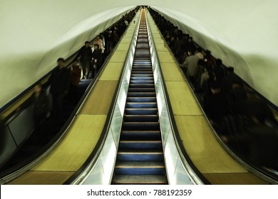 Pyongyang Metro Escalator, the longest underground escalator in the world