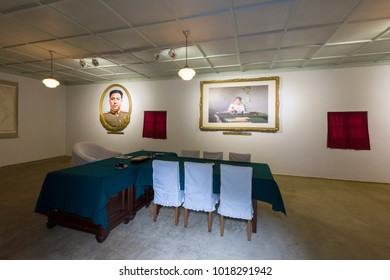 Pyongyang,North Korea-August 14,2016: the tunnels bunker for the leader of North Korea ,now keep it like museum for tourists.