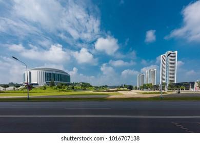Pyongyang,North Korea-August 14,2016:Landscape of  Pyongyang ,the capital city of North Korea.