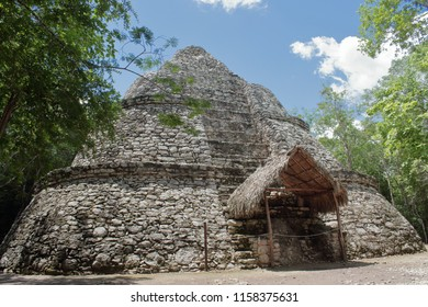pyramid of the archaeological site coba mexico