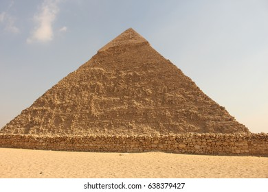Pyramid with blue sky