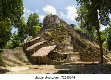 pyramid building at the Maya archeological site of Dzibanche Mexico