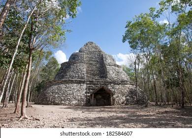 Pyramid in Coba ruins, Quintana Roo, Mexico