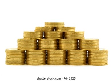 a pyramid from coins 1