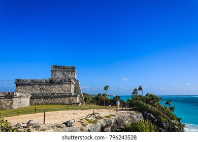Pyramid El Castillo of Tulum, Mexico