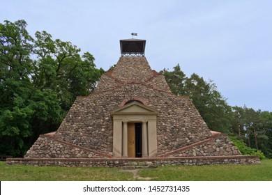 Pyramid of Garzau, Märkische Schweiz, Brandenburg, Germany