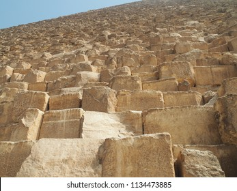Pyramid Giza close up view