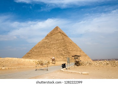 The pyramid Khafre in Giza, Egypt