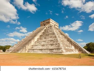 Pyramid of Kukulkan, Chichen Itza, Mexico.