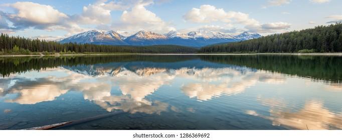 Pyramid Lake in Jasper National Park. Alberta, Canada.