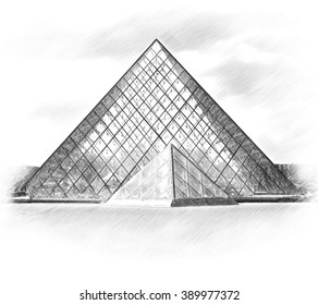 museo louvre stock illustrations images vectors shutterstock rh shutterstock com Art Gallery Clip Art musee du louvre clipart