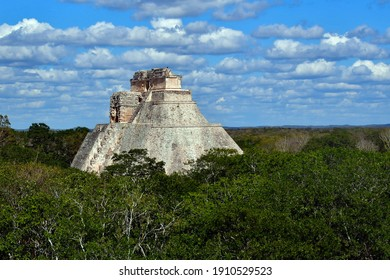The Pyramid of the Magician.Is a Mesoamerican pyramid located in the ancient pre-Columbian city of Uxmal, Mexico.It is also called the Pyramid of the Dwarf and the Pyramid of the Riddle.