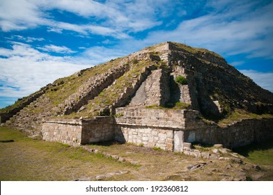 A pyramid in Monte Alban, Mexico