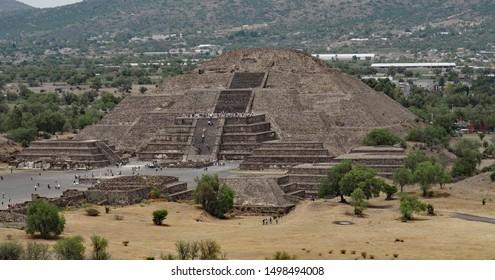 Pyramid of the moon at Teotihuacan Mexico