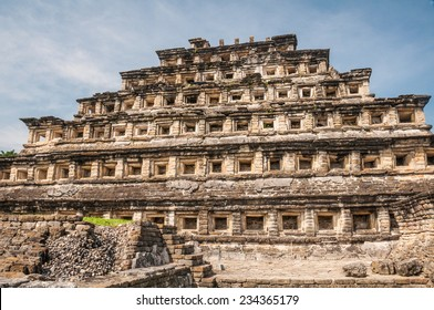 Pyramid of the Niches, archaeological site of El Tajin,, Veracruz (Mexico)
