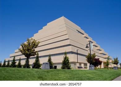 Pyramid office building in Sacramento