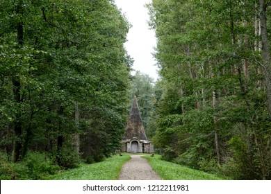 Pyramid of Rapa in Masuria in eastern Poland