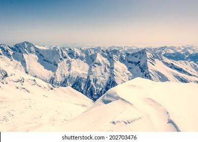 Pyramid shaped mountain top, Ankogel, Austria