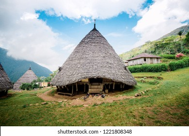 Pyramid Shaped Wae Rebo Traditional Village House in Flores Indonesia
