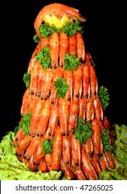 Pyramid of shrimps