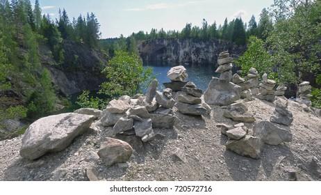 pyramid of stones, trolls