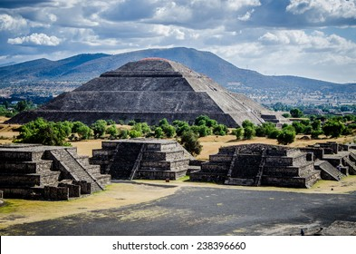 Pyramid of the sun, Avenue of the dead, Teotihuacan