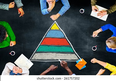 Pyramid Top Leadership Development Promotion Concept